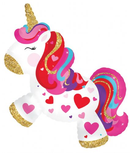 "14"" Airfill Only Unicorn Body Foil Balloon"